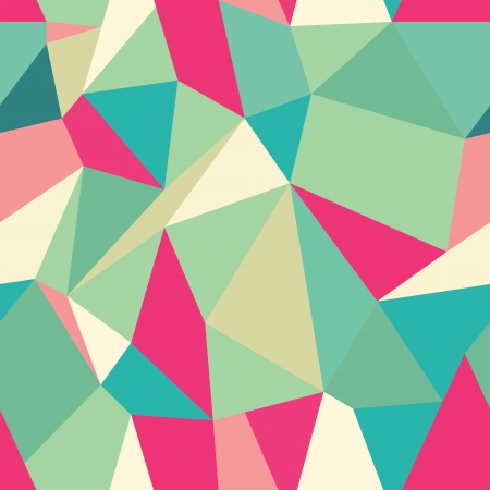 Seamless Polygonal Pattern, Backrgound, Texture Vector Hexagon Triangle