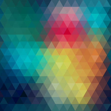 Triangle neon seamless background, pattern, vector Vector