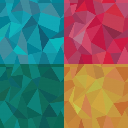 Seamless Polygonal Pattern Set, Background, Texture Vector Vector