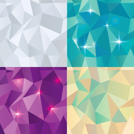 Seamless Polygonal Pattern Set, Background, Texture Vector Illustration