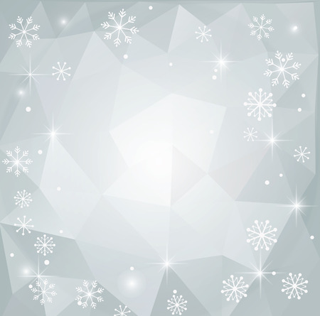 Vector abstract polygonal Christmas Background, Pattern Vector