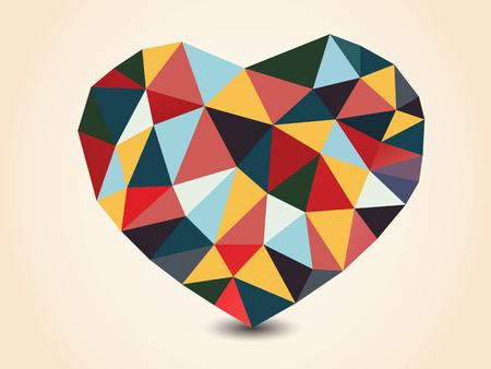 Origami polygonal heart. Vector Illustration. Vector