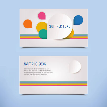 name card design: Modern Business Card with 3D effect. Vector Design.