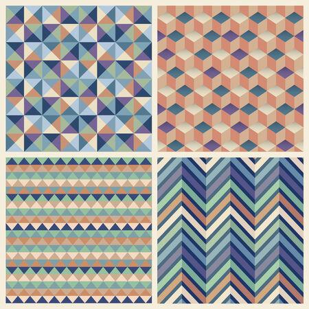 seamless geometric: Seamless geometrica del cubo impostare lo sfondo. Patterns Vector