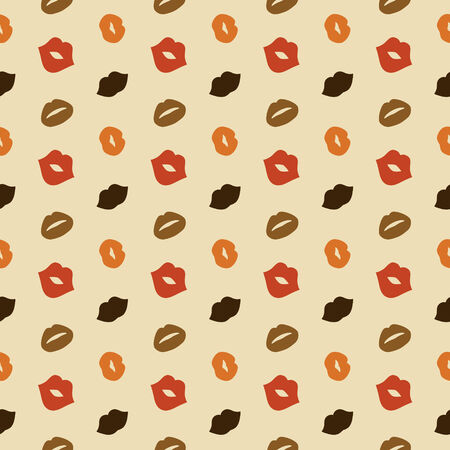 photoshop: Hipster Lips Vector Seamless Pattern, Illustration, Kiss