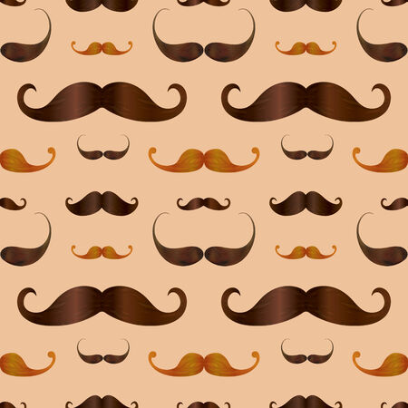 vinous: Hipster Realistic  Mustache Seamless Pattern Background Stock Photo