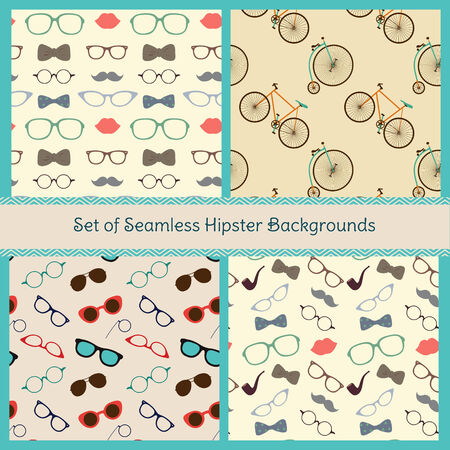 Set of Hipster Patterns Vector