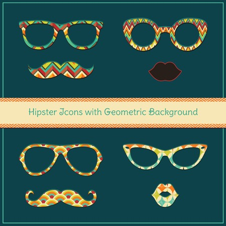 Hipster Icons Vector