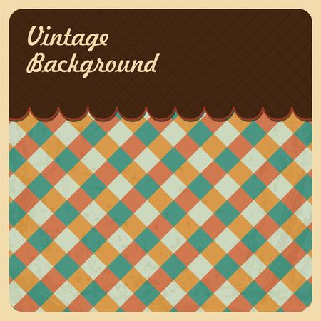 top menu: Vintage Background with Grunge Texture. Top Menu