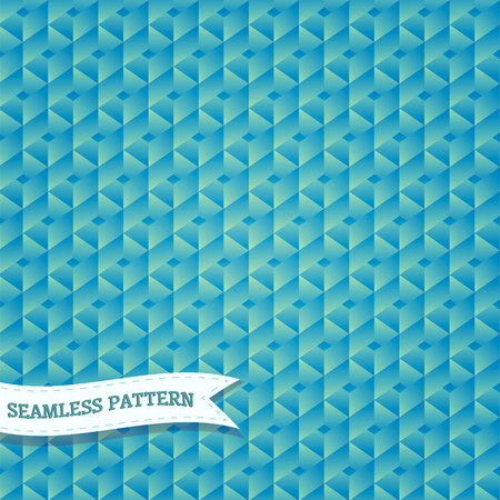hexagonal pattern: Vector seamless vintage hexagonal mosaic background pattern