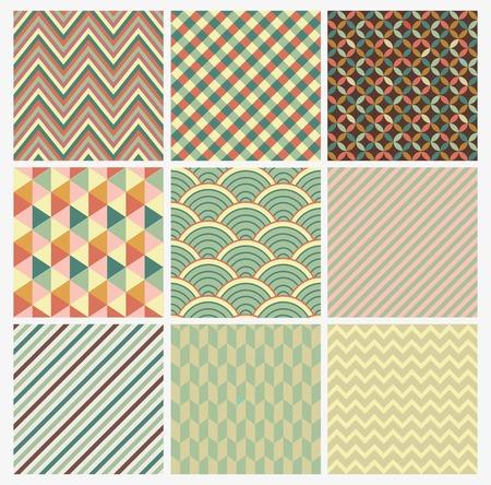 Seamless géométrique abstrait ensemble de fond. Patterns Vector