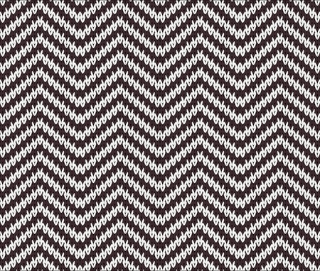 Seamless Zigzag Knitting Pattern Royalty Free Cliparts, Vectors, And ...