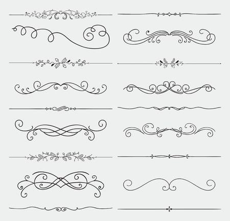 Elements Hand Drawn Rustic Doodle Design  Illustration