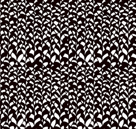 webbing: Abstract Black Hand Sketched Scribble  Leaves Seamless Background Pattern. Vector Illustration. Pattern Swatch. Ink Drawing