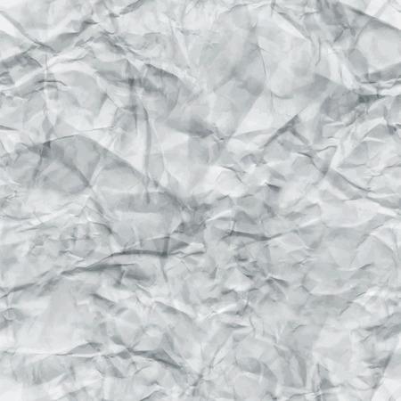 White verfrommeld papier Naadloze Textuur. Vector illustratie. Abstract Gedetailleerde Gevouwen Grunge Tileable Achtergrond. patroon Swatch Vector Illustratie