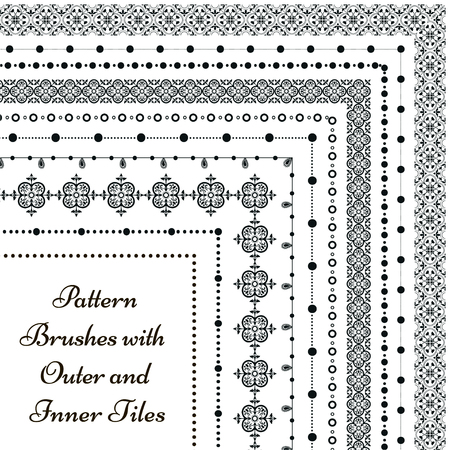 pattern: Vector pattern brushes with outer and inner tiles