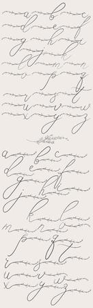 Vector Flowered Alphabet Lowercase Monograms and logo
