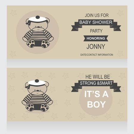 Plantilla De Invitaciones Para Baby Shower Bebé Partido