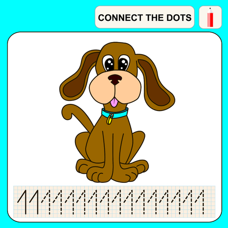 conundrum: Connect the dots, preschool exercise task for kids, numbers