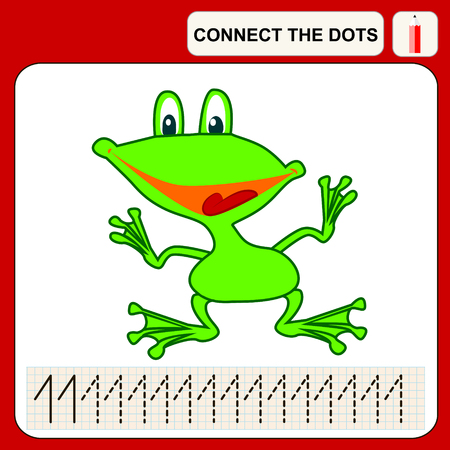 task: Connect the dots, preschool exercise task for kids, numbers