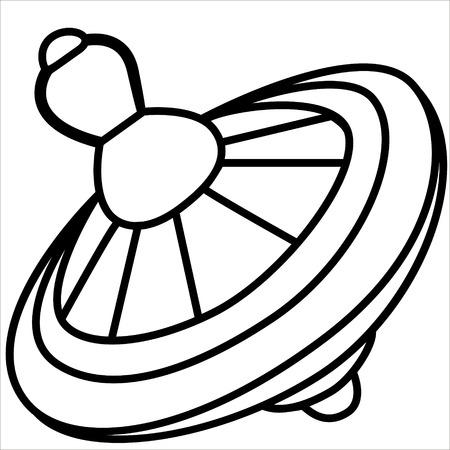 molinete: ilustraci�n vectorial aislado, historieta linda del molinete amarillo. Negro.