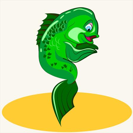 coral fish: Cartoon vector Illustration of cute exotic coral fish.