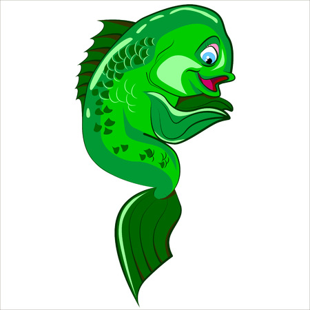 coral fish: Vector isolated illustration of cute exotic coral fish.