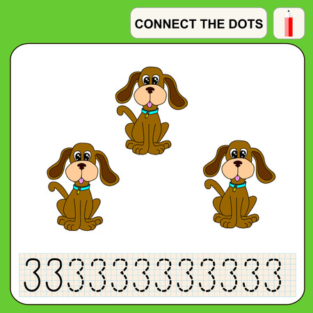 enigma: Connect the dots, preschool exercise task for kids, numbers