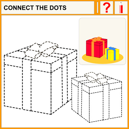 task: Connect the dots, preschool exercise task for kids, great gifts.