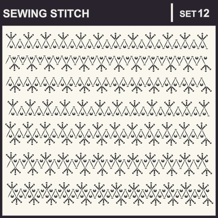 stitched: Collection of illustration sewing stitch patterns