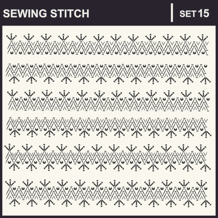 stitch: Collection of illustration sewing stitch patterns