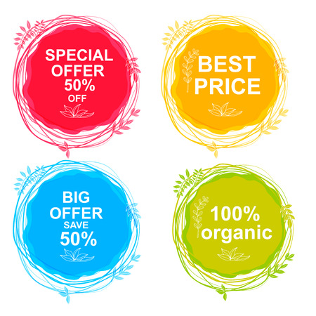special price: Special Offer, Big Offer & Best Price Marks, Organic.