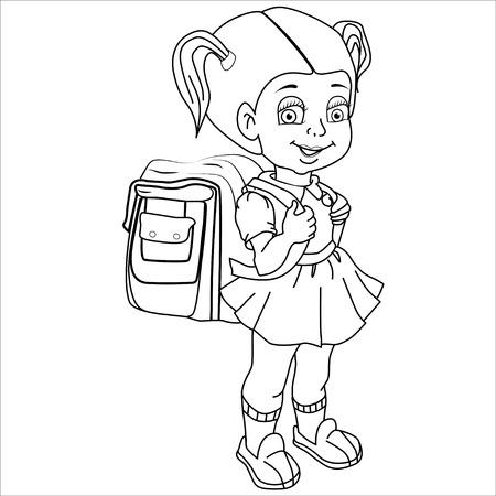 first grade: Cartoon vector Illustration. Illustration