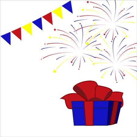 festive: Festive background with firework Illustration