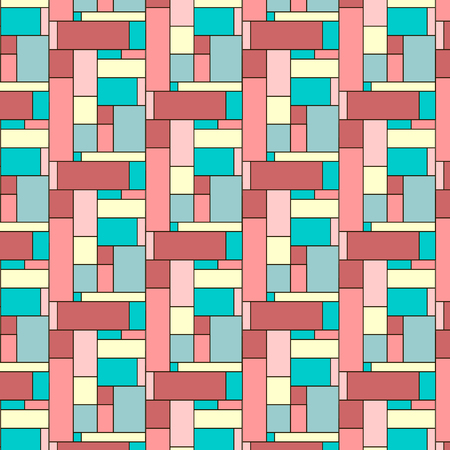 midcentury: Squares pattern in abstract style.