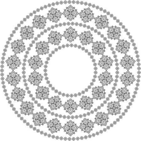 Mandala Negro Para Colorear. Colorear Mandala Vector. El Diseño Del ...