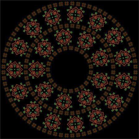 Colorful mandala. Round mandala ornament. Anti-stress therapy mandala. Weave pattern mandala. Yoga mandala logo, mandala meditation poster. Unusual geometry mandala. Mandala design element.
