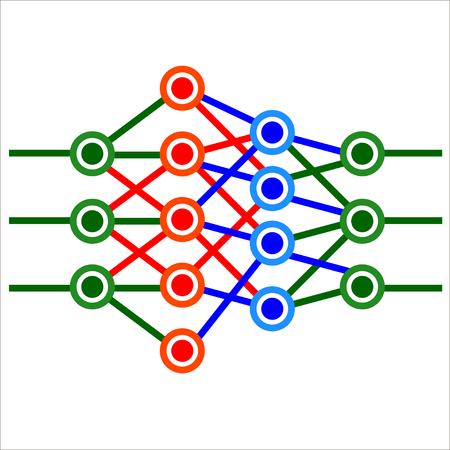 Mathematical neural network. Vector.
