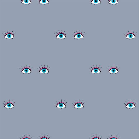 Seamless pattern of modern eyes. Mystical hand-drawn illustration. Sign esoteric, inspirational eye. Vector illustration isolated on white background. The pattern for the fabric, cover, textile. 向量圖像