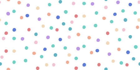 Seamless pattern with bright confetti. Different colored dots are scattered with a pattern. Can be used for fabric, wrapping, wallpapers, web page backgrounds, textile.