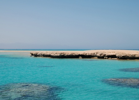tiran: Egypte. Eiland van de tiran. Red sea.Charm-ale-Sheikh Redactioneel