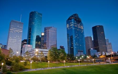 Houston skyline by night photo