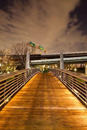 Bridge on Bayou Walk Stock Photo