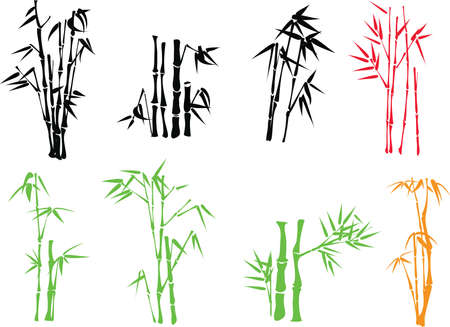 china art: bamboo twig Illustration