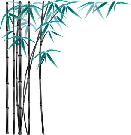 blown: black bamboo Illustration