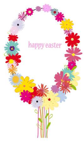 Floral Easter egg backgorund. vector illustration