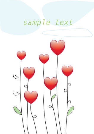 card with hearts  Illustration