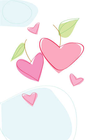 hearts with leaves