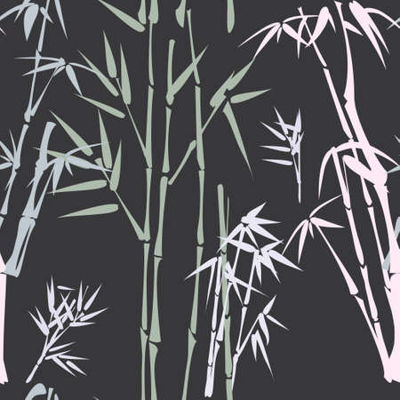 pattern with bamboo  Illustration