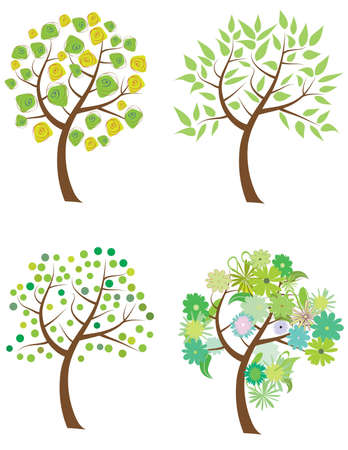set of trees  Stock Vector - 9722335